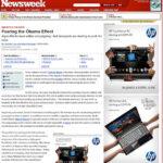 米国版NewsWeekに紹介されました! Fearing the Obama Effect