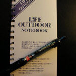 お風呂でのメモグッズ。 Uni POWER TANK L!FE OUTDOOR NOTEBOOK