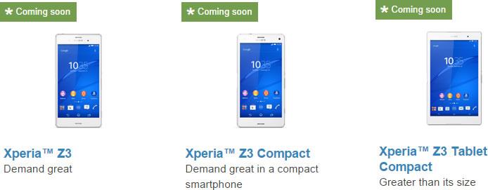 Sony Mobile、米国向けの公式サイトに「Xperia Z3」、「Xperia Z3 Compact」、「Xperia Z3 Compact Tablet」の製品ページ 32