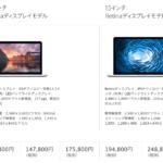 Apple製品のppi比較 Retinaのppi(解像度)は326ppi設定