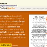 Chrome拡張機能「Project Naptha」画像の中からテキスト抽出!
