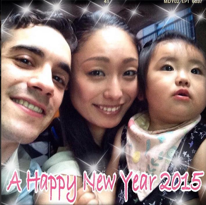 安藤美姫の新年instagramの3ショット 1