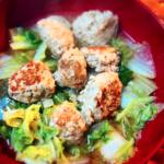 【料理】白菜と肉団子、オイスターソース煮込み
