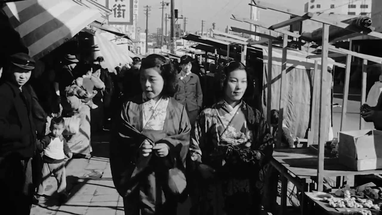 ほのぼのとした終戦の翌年らしい東京の映像1946年 GHQ映像 37