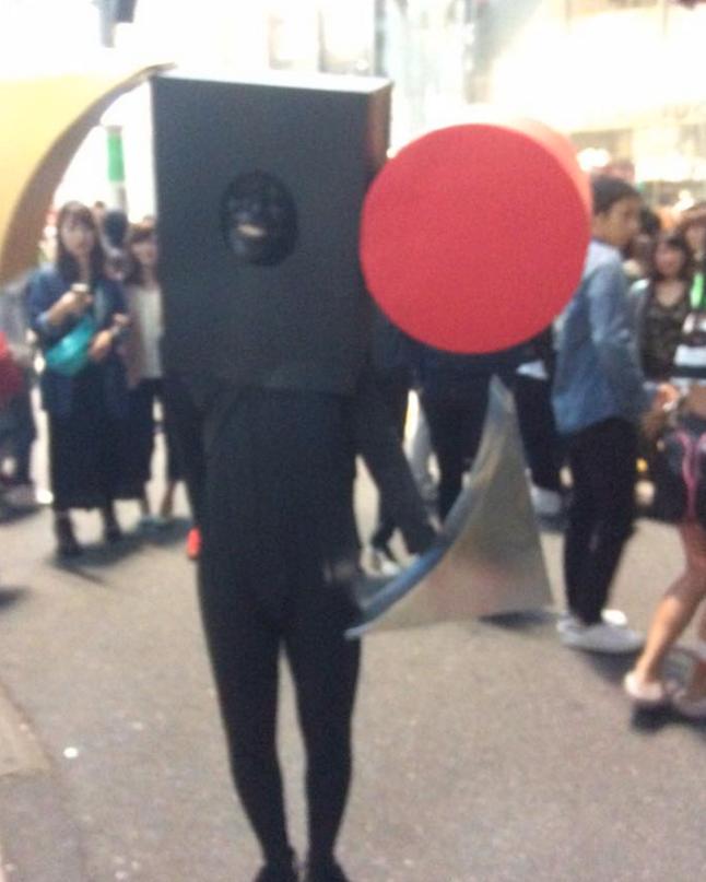 今年のハロウィン暫定グランプリ!は東京オリンピックエンブレム男 5
