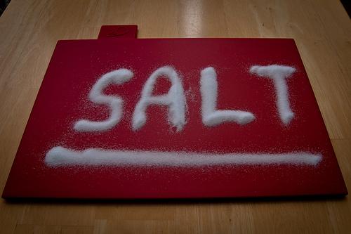 アトピータイプの肌に、お風呂の後の塩パック 塩化粧水 22