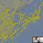 北朝鮮のミサイルが発射されても、これだけ飛んでいたのか…