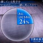 NHKスペシャル「介護殺人」 介護者4人に1人が殺意、133万人の殺意