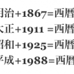 超便利!【和暦→西暦ブックマークレット】西暦 計算方法 平成+1988年 昭和+1925年