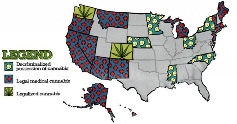 米国合法大麻市場72億ドル8208億円  25万人の雇用2020年 2025年には240億ドル2.7兆円30万人雇用 3