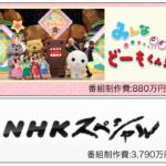 NHKあの番組の制作費はいくら?総合テレビ1日7.86億円 BS1日3.7億円エンドロールクレジットに制作費を入れてみると…