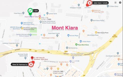 モントキアラ 無料シャトルバスサービス スケジュール クアラルンプール 1