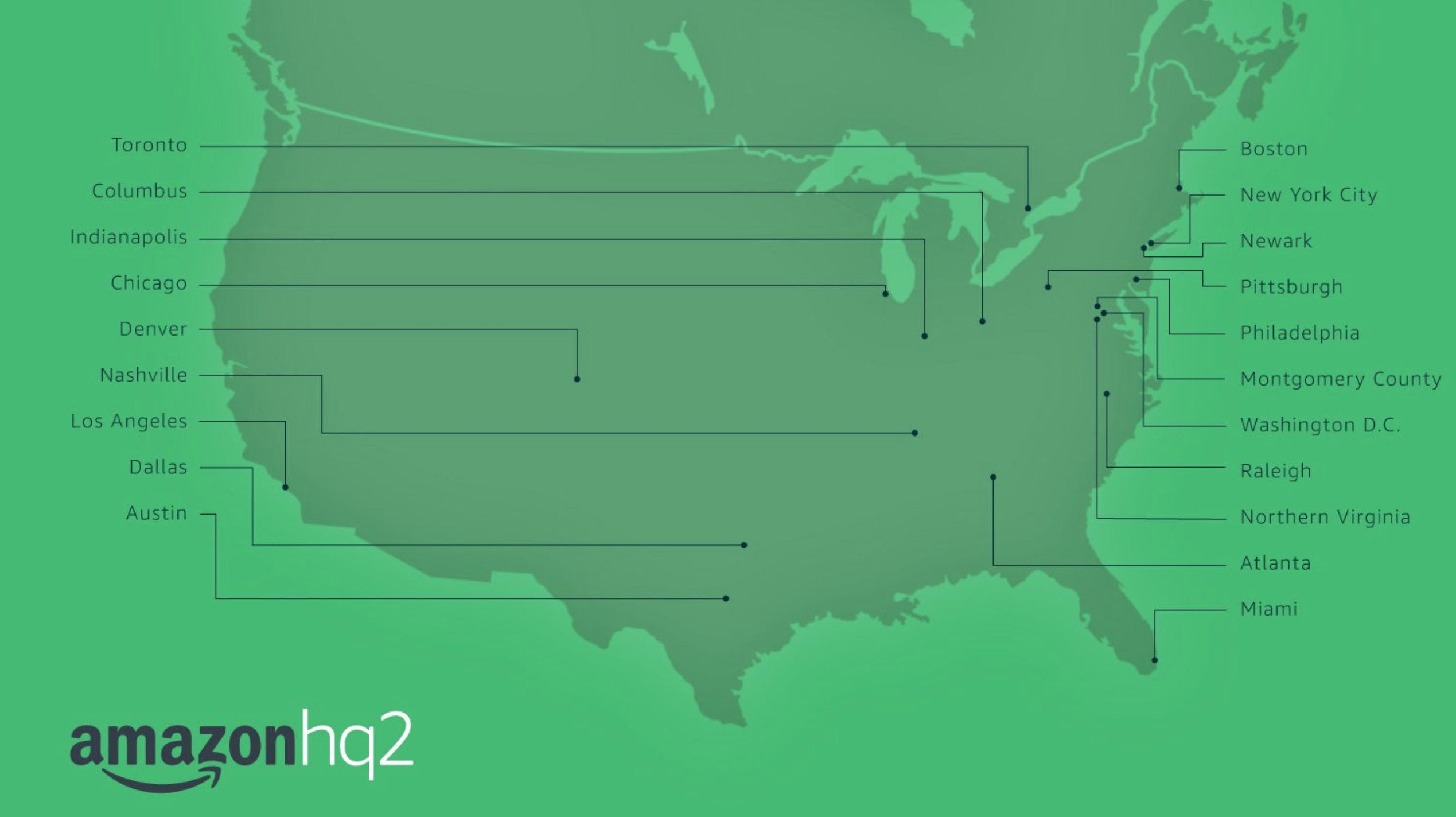 Amazonの50億ドル 全米第2ヘッドクオーター争奪合戦 20