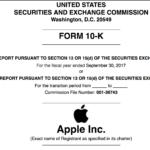 米Apple 10K 2017 連結SEC決算報告  売上 2292億ドル 粗利483億ドル