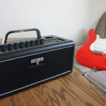 ワイヤレスギターアンプ BOSS #KATANA-AIR  トランスミッターで音を飛ばしながら、Bluetoothで音楽と合わせられるアンプ