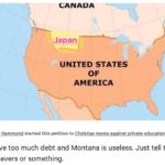 そうだ米国モンタナ州は日本が買おう!110兆円 change.org でモンタナ州をカナダへ$1Tで売る署名が展開中