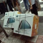 1998年 初代iMac 発売 ボンダイブルーのトランスルーセントデザイン