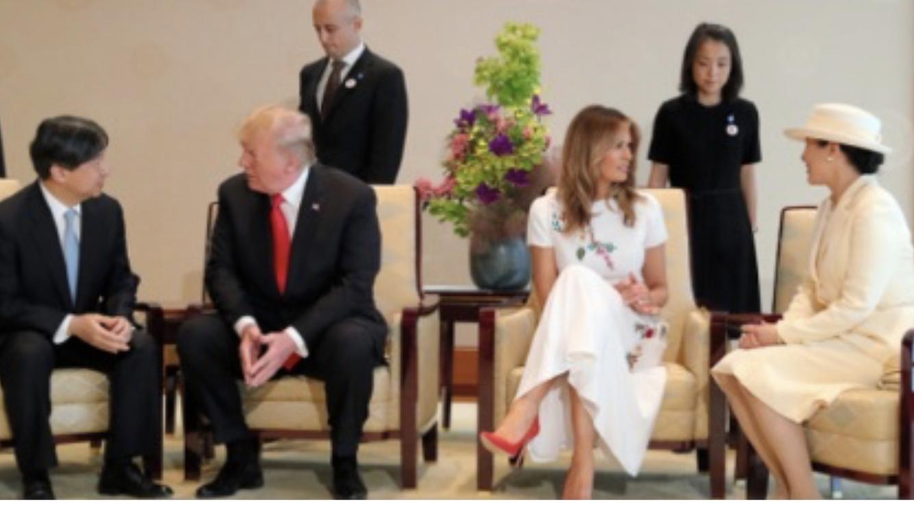 通訳不要の新たな皇室外交 令和のトランプ夫妻と天皇陛下の会話シーン 30