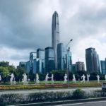 まるでSFに出てくる未来都市のような深圳の建物