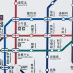 中国 深圳シンセン地下鉄マップ