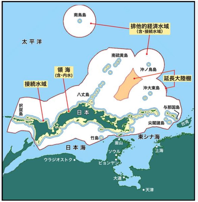 逆さ地図 ウラジオストクから見た日本 1